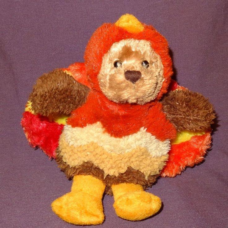"Teddy Bear in Turkey Costume Thanksgiving Plush Stuffed Animal Toy 6"" Plushland #Plushland"