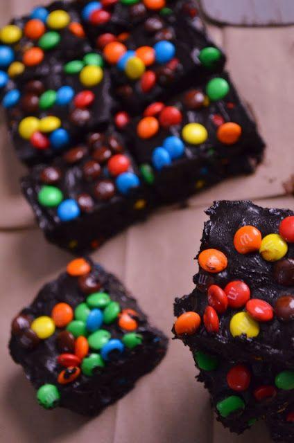 Soft Dark Chocolate M & M Fudge