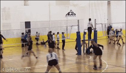 So, in this look into the future, my daughter apparently goes into volleyball...