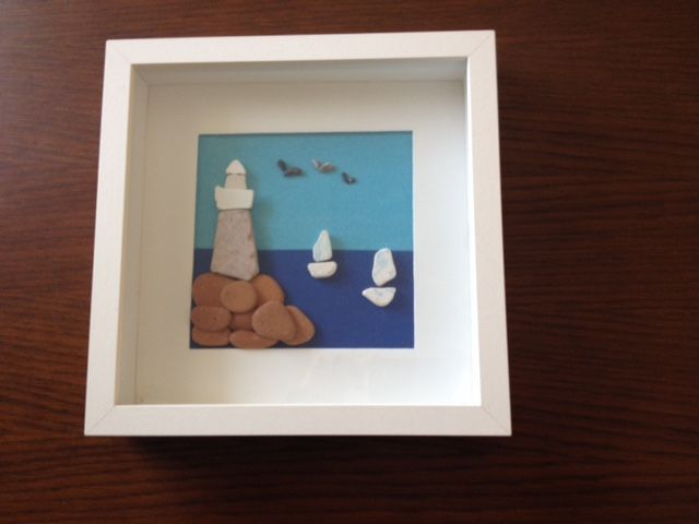 """Lighthouse"". Pieces of ceramic, sculpted by the sea, join together to create images..."