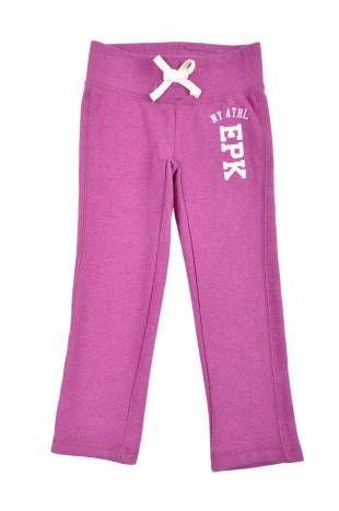 Pantalon tipo jogging para niña, en color morado.