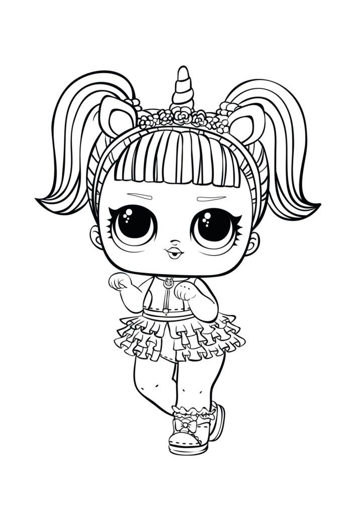 Unicorn Emoji Coloring Page - youngandtae.com in 2020 ...