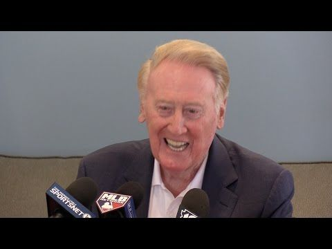 Vin Scully Q&A at Dodgers spring training - YouTube