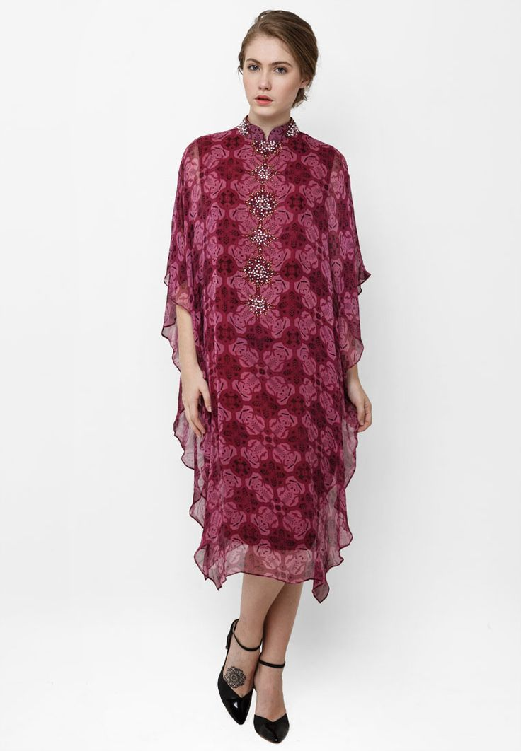 Dress Kaftan Batik Nitik by Danar Hadi SP0931 | Klikplaza Online Shop