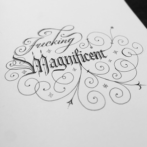 Hope you're all well. Me? Today I'm feeling fucking magnificent. by Seb Lester, via Flickr