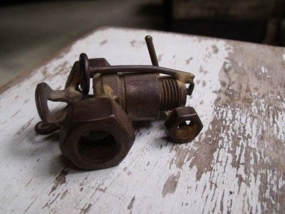 Adorable Folk Art Mini Tractor From Spark Plug