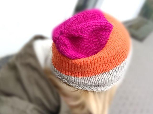 Mütze stricken in schönen Farben
