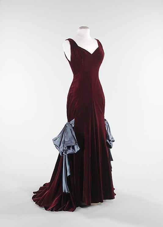 1937 dress by Elizabeth Hawes, American