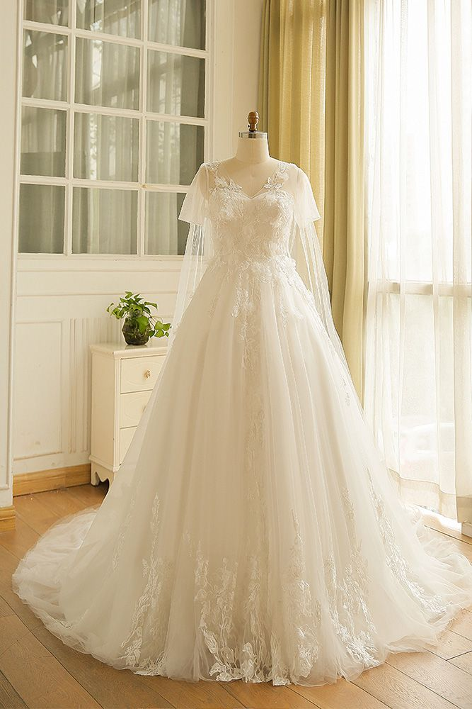 db049844ae5 Dreamy Boho Plus Size Wedding Dress With Sleeves For Beach Wedding ...