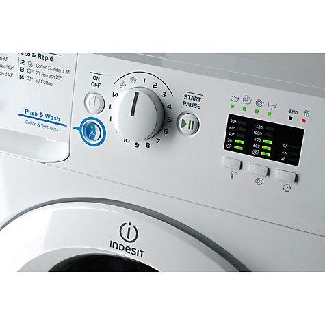 Buy Indesit XWA81482XW Freestanding Washing Machine, 8kg Load, A++ Energy Rating, 1400rpm Spin, White Online at johnlewis.com