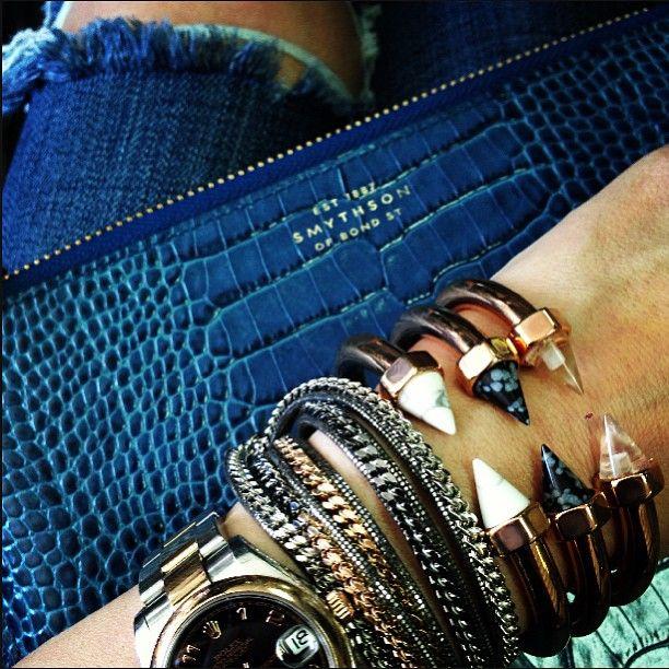 smythson, rolex watch, vita fede, stacks, arm candy, arm swag, arm party, bracelets