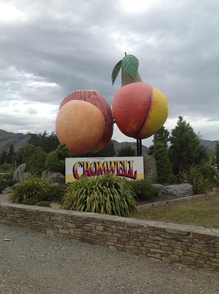 Giant fruit in Cromwell, NZ
