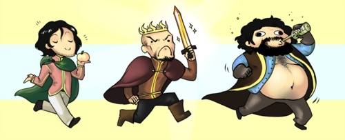 a great cartoon version of the baratheons from Game of thrones.