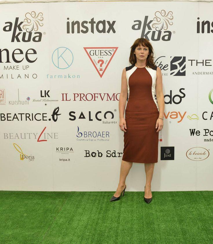 Barbara Bobulova ( Anime Nere) #venezia71 #club7 #mostradelcinema #veneziafilmfestival #venicefilmfestival — presso 71' Mostra Del Cinema Di Venezia.