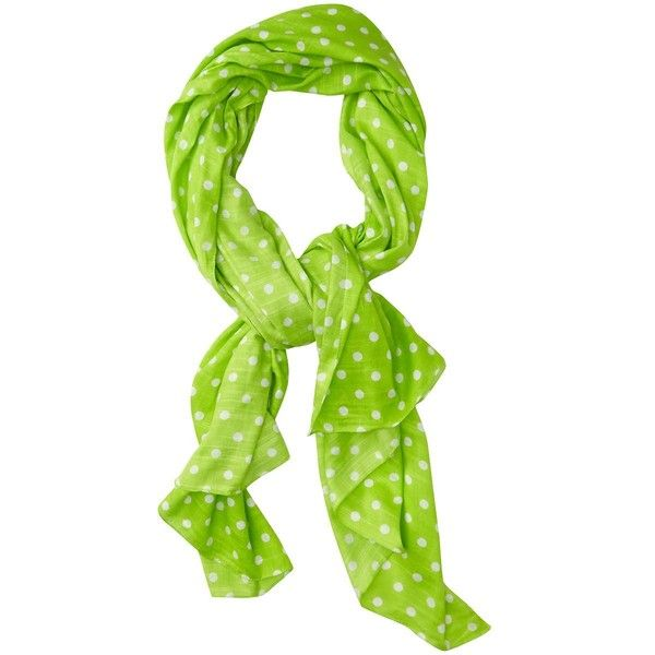 Echo Polka Dot Wrap ❤ liked on Polyvore featuring accessories, scarves, green, polka dot, citron, wrap scarves, wrap shawl, green scarves, green shawl and echo scarves