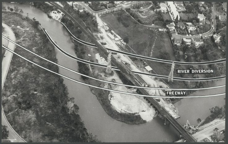 Heyington Yarra Diversion for South Eastern Freeway - 1970s