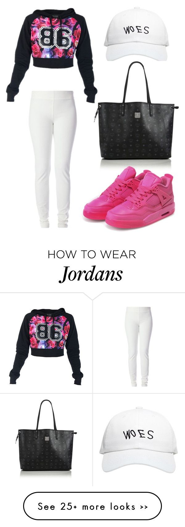 """Untitled #2097"" by ceceiscool1995 on Polyvore featuring moda, October's Very Own, MCM, Joseph y NIKE"