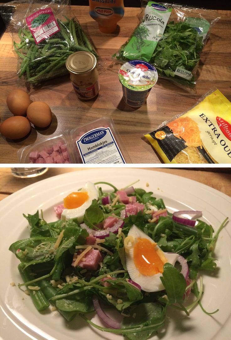 Deze maaltijdsalade is heerlijk en ook nog eens gezond! Maak hem zelf met het recept op de website.