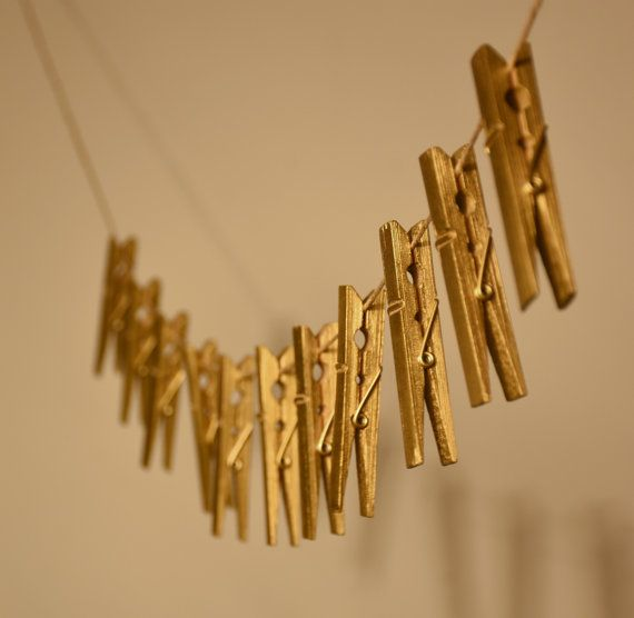 Gold Bamboo Clothespins by SCBoutique123 on Etsy