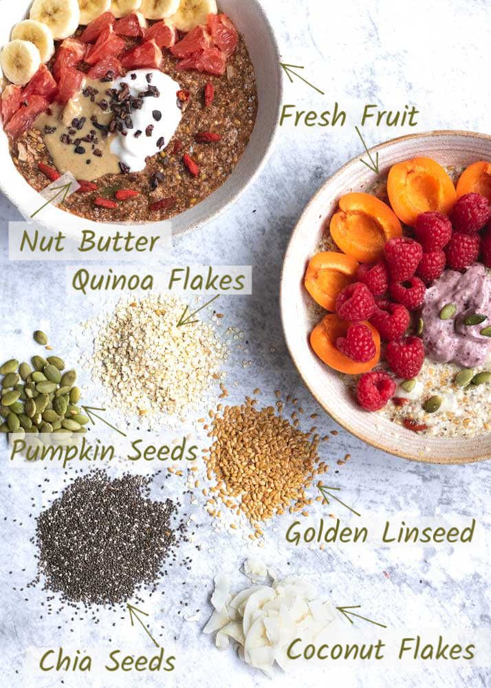 Vanessa S Vegan Superfood High Protein Breakfast Bowl The Vegan Larder Recipe High Protein Breakfast Protein Breakfast Breakfast Bowls Recipe