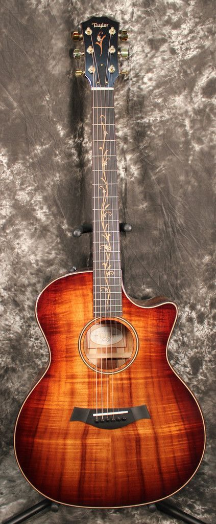 2015 Taylor K24ce Grand Auditorium Cutaway ES2 Acoustic Electric Guitar #Guitartypes
