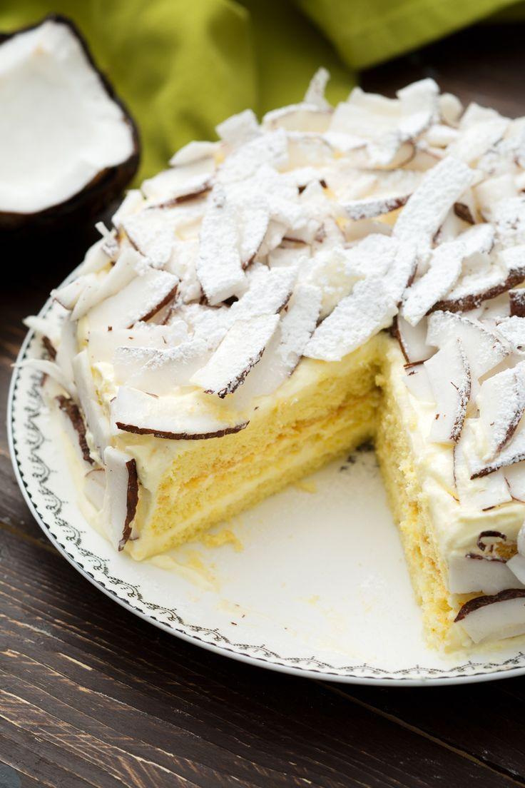 Torta cocco e limone: abbinamento vincente per un dessert davvero scenografico! [Coconut and lemon cake]