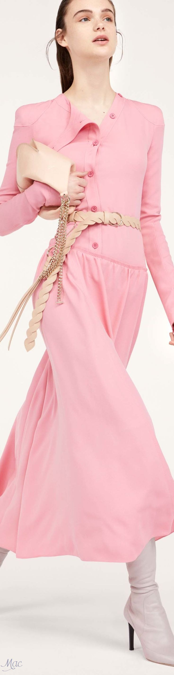 Bubblegum buttondown maxi dress, blush braided leather belt, blush fortune cookie purse, concrete stiletto boots