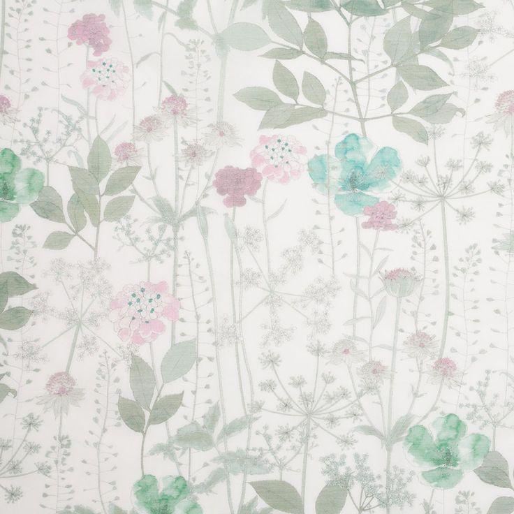 Liberty of London Irma Aspen Green Silk-Cotton Voile Fabric by the Yard   Mood Fabrics