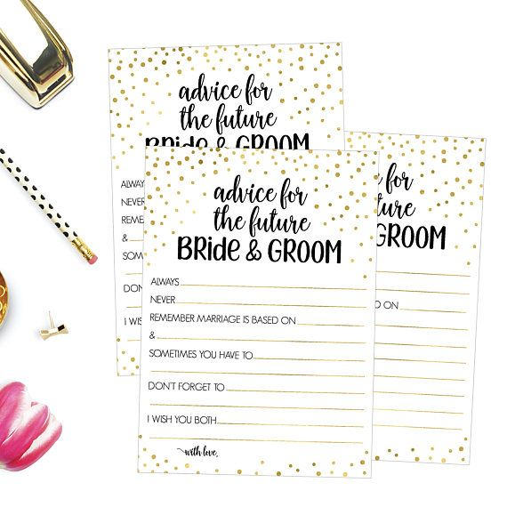 Funny Wedding Advice Cards   Advice Cards For Wedding Shower   Well Wishes Card   #afflink