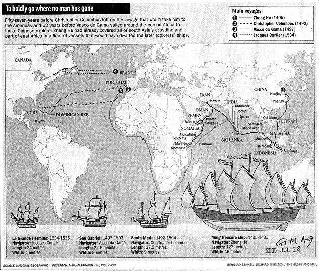 zheng he's ship compared to columbus | ... ZHENG He's Treasure ship vs Christopher Columbus' Santa Maria et al
