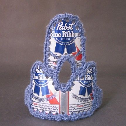 Beer Can Tiara... Lose the tacky crochet and bust out the bedazzler!!! Oh ya baby!!
