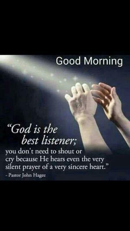 Good morning God, thanks for listening