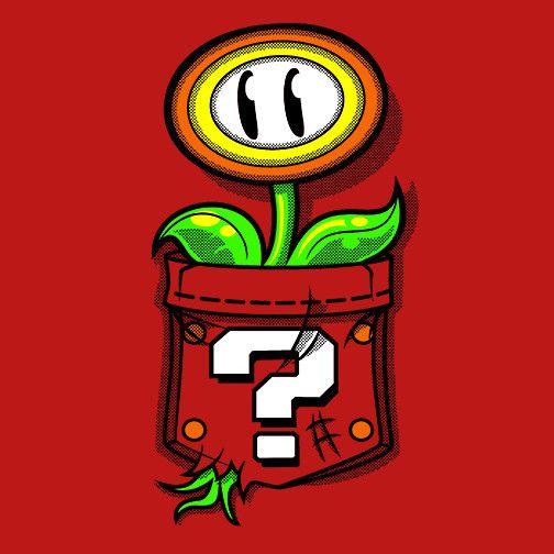 Pocket Flower T-Shirt $12.99 Super Mario Bros tee at Pop Up Tee!