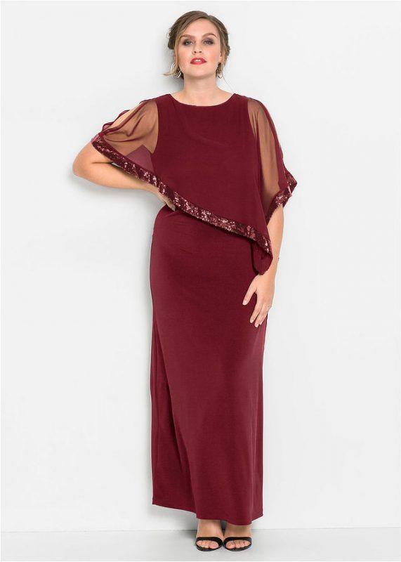 7e640ca120 Długa suknia wieczorowa plus size z narzutką bordowa    Sukienka plus suzie  na wesele  sukienka  sukienki  plussize  plussizefashion  plussizeoutfits  ...