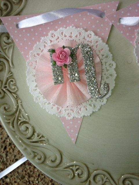 Shabby Chic Mom Banner Mothers Day Decoration by JeanKnee on Etsy, $12.00