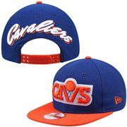 Men's Cleveland Cavaliers New Era Royal Script Flip Original Fit 9FIFTY Snapback Adjustable Hat
