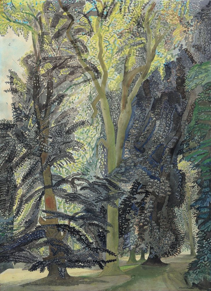 Edward Bawden RA (1903-1989), Audley End,Trees, watercolour. For sale by The Canon Gallery