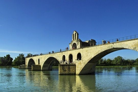 Pont d'Avignon.  One of the many sights we saw on our 8th grade French Club trip to Europe!