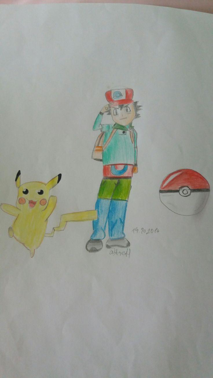 Pikachu, Ash a Pokeball-Moje tvorba
