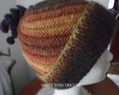"""Bonnet femme tricoté à la main """"CHAMONIX"""" : Chapeau, bonnet par misty-tuss-tricote - en BIG DELIGHT"""