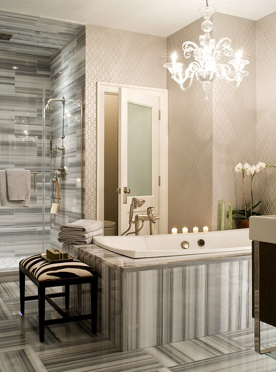 Modern Bathroom Chandeliers 19 best bathrooms with chandeliers images on pinterest | room
