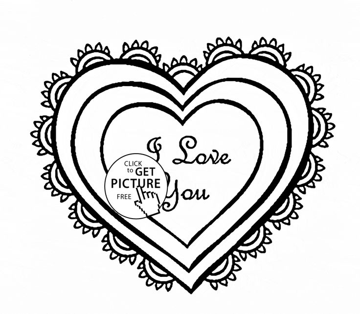 12 best Hearts coloring pages images on Pinterest | Heart ...