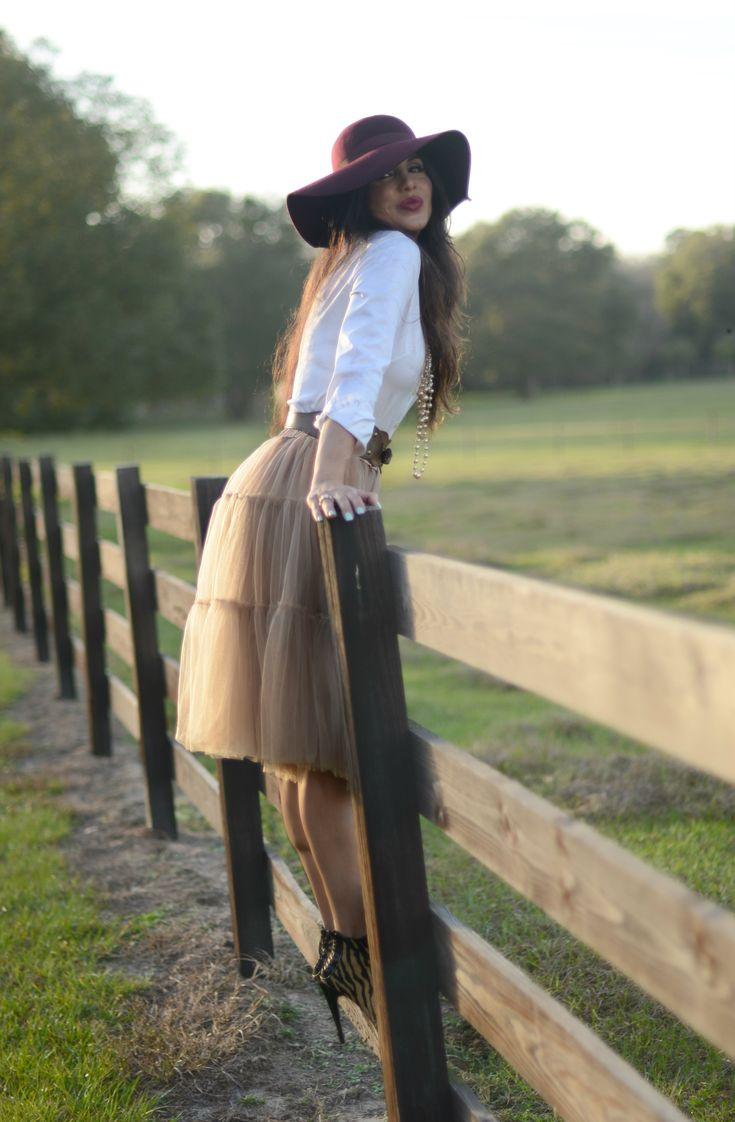 Enjoying the afternoon with my favorite tulle skirt:-)