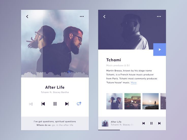 Music Widget by Mats Roelofs #Design Popular #Dribbble #shots