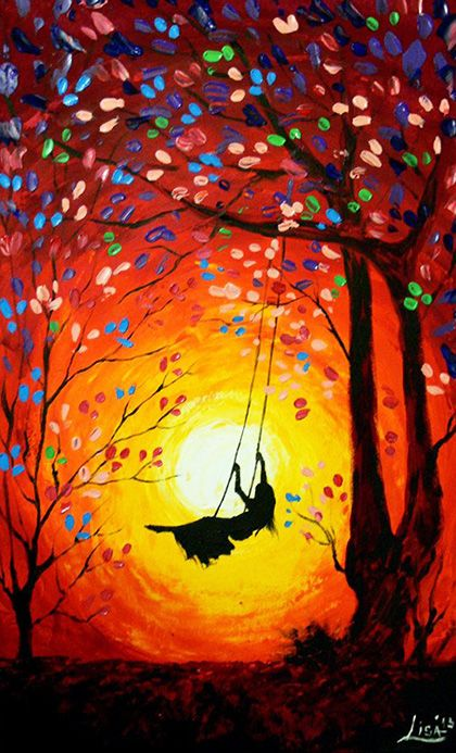 ArtonlineGallery, painting by Lisa, via Etsy.