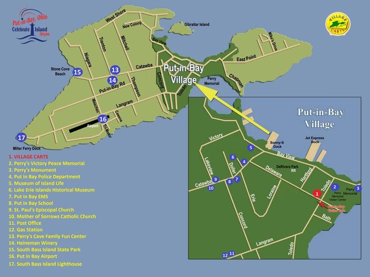 PutinBay Visitors Guide Island Map PutinBay Ohio Lets Party