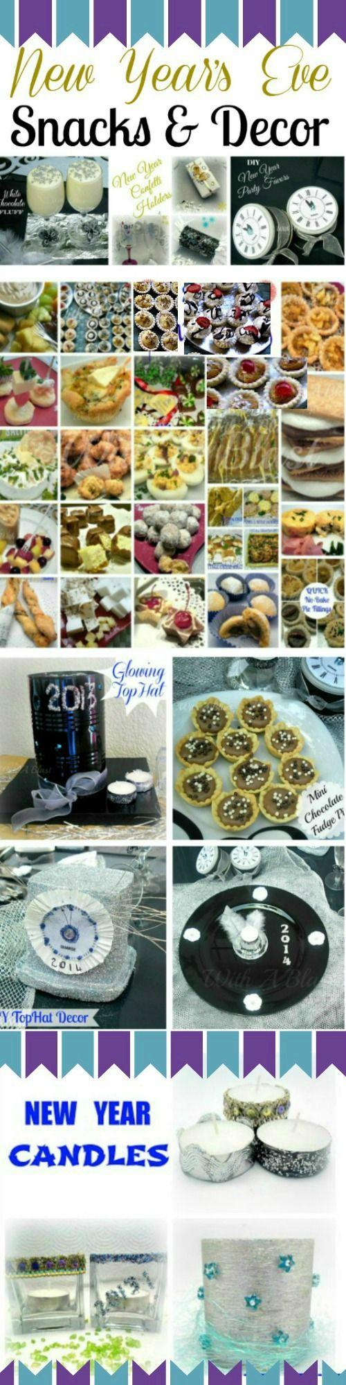 New Year's Eve Snacks & Decor