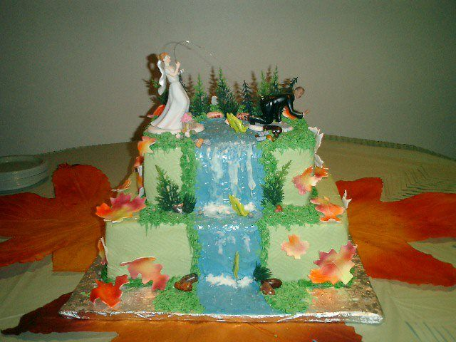 fish wedding cake ideas fishing wedding cake wedding wedding 14300
