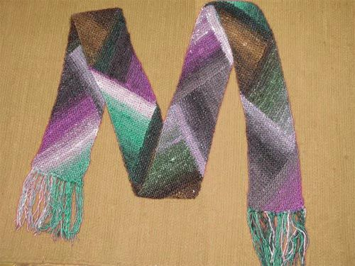 Knitted Scarf Patterns Using Sock Yarn : Scarf pattern thats suited for using self-striping sock ...