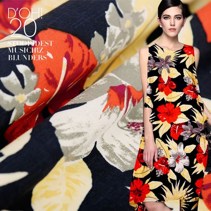 112cm width 27m/m flowers printing silk spinning cotton fabric cloth Free shipping SCB1543